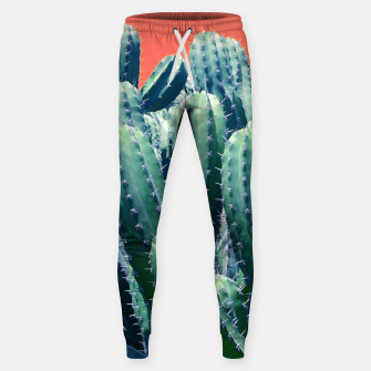 Thumbnail image of Cactus on Coral Cotton sweatpants, Live Heroes
