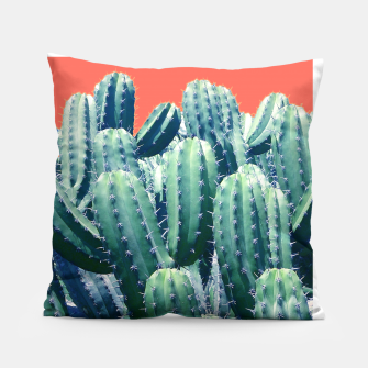 Thumbnail image of Cactus on Coral Pillow, Live Heroes