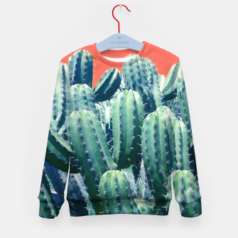 Thumbnail image of Cactus on Coral Kid's sweater, Live Heroes
