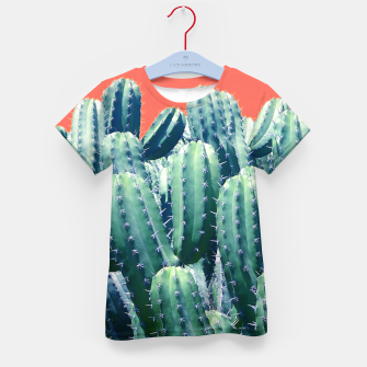 Thumbnail image of Cactus on Coral Kid's t-shirt, Live Heroes