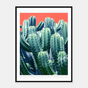 Thumbnail image of Cactus on Coral Framed poster, Live Heroes