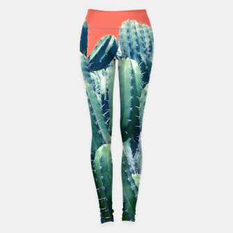 Thumbnail image of Cactus on Coral Leggings, Live Heroes