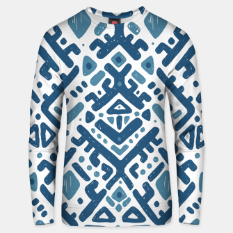 Thumbnail image of Ikat ornament. Tribal pattern Cotton sweater, Live Heroes
