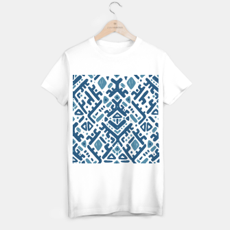 Imagen en miniatura de Ikat ornament. Tribal pattern T-shirt regular, Live Heroes