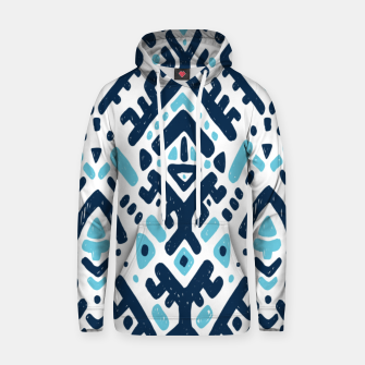 Thumbnail image of Aztec ornament Cotton hoodie, Live Heroes