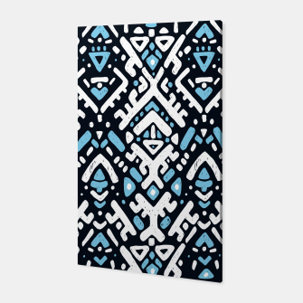 Thumbnail image of Ikat ornament. Tribal pattern in Aztec style. Hand Drawn folklore pattern Canvas, Live Heroes
