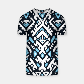 Thumbnail image of Ikat ornament. Tribal pattern in Aztec style. Hand Drawn folklore pattern T-shirt, Live Heroes