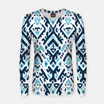Thumbnail image of Aztec ornament Woman cotton sweater, Live Heroes