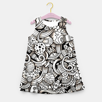 Miniaturka Space Doodle Girl's summer dress, Live Heroes