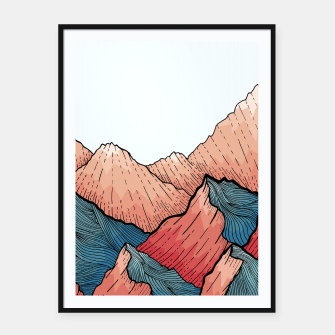 Thumbnail image of Sea Peaks Framed poster, Live Heroes