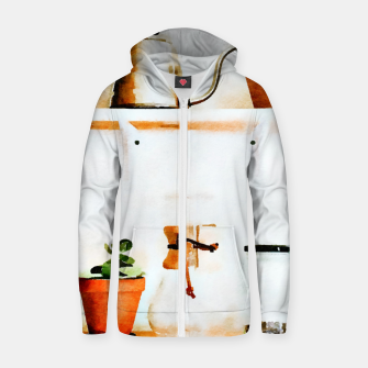 Thumbnail image of Plant Wall V2 Cotton zip up hoodie, Live Heroes