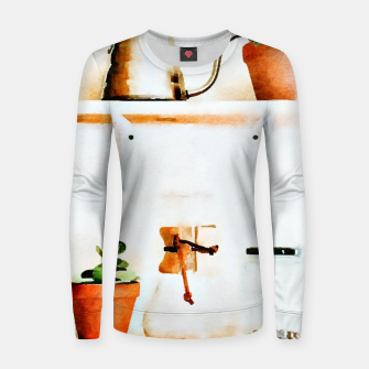 Thumbnail image of Plant Wall V2 Woman cotton sweater, Live Heroes