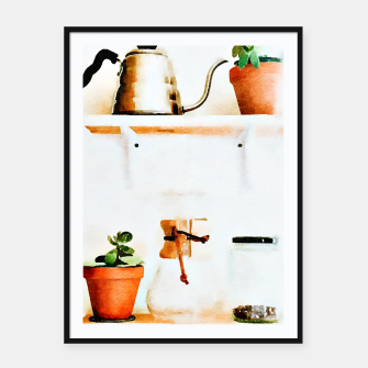 Thumbnail image of Plant Wall V2 Framed poster, Live Heroes