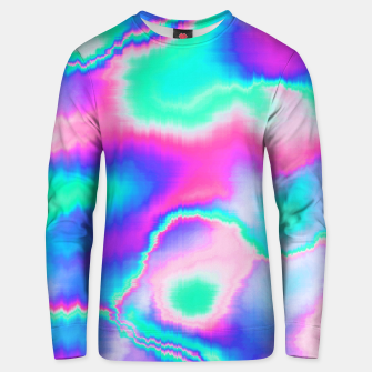 Thumbnail image of Holographic Glitch Cotton sweater, Live Heroes