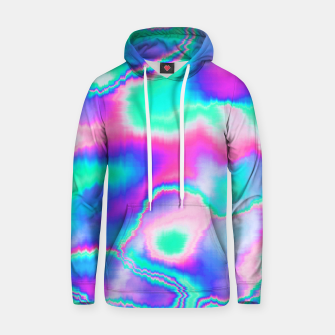 Thumbnail image of Holographic Glitch Cotton hoodie, Live Heroes