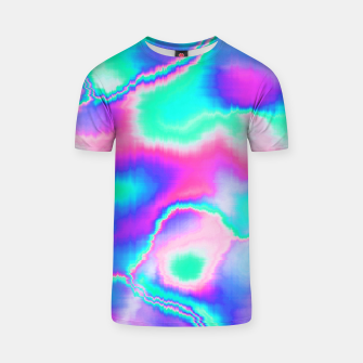 Thumbnail image of Holographic Glitch T-shirt, Live Heroes