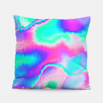 Thumbnail image of Holographic Glitch Pillow, Live Heroes