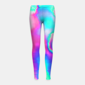 Thumbnail image of Holographic Glitch Girl's leggings, Live Heroes