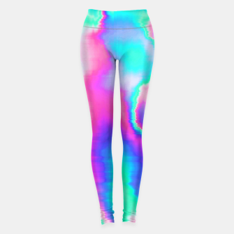 Thumbnail image of Holographic Glitch Leggings, Live Heroes