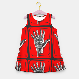 Miniaturka Hand six fingers Girl's summer dress, Live Heroes