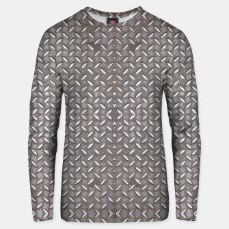 Thumbnail image of Old Metal Steel plate texture Cotton sweater, Live Heroes