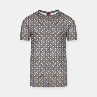 Thumbnail image of Old Metal Steel plate texture T-shirt, Live Heroes