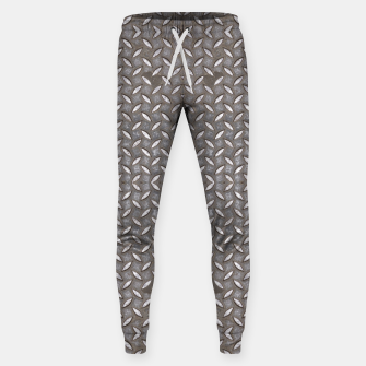 Thumbnail image of Old Metal Steel plate texture Cotton sweatpants, Live Heroes
