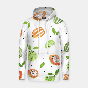 Thumbnail image of Papaya & Custard Apple Cotton hoodie, Live Heroes