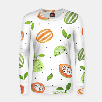 Thumbnail image of Papaya & Custard Apple Woman cotton sweater, Live Heroes