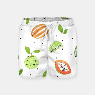 Thumbnail image of Papaya & Custard Apple Swim Shorts, Live Heroes