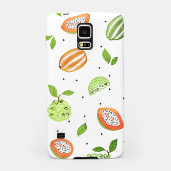 Miniaturka Papaya & Custard Apple Samsung Case, Live Heroes