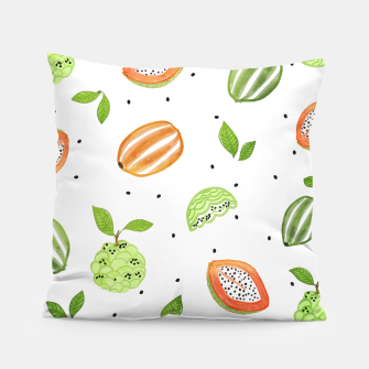 Thumbnail image of Papaya & Custard Apple Pillow, Live Heroes