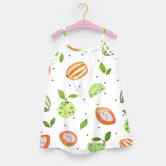Miniaturka Papaya & Custard Apple Girl's dress, Live Heroes