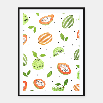 Thumbnail image of Papaya & Custard Apple Framed poster, Live Heroes
