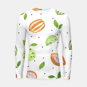 Thumbnail image of Papaya & Custard Apple Longsleeve rashguard , Live Heroes