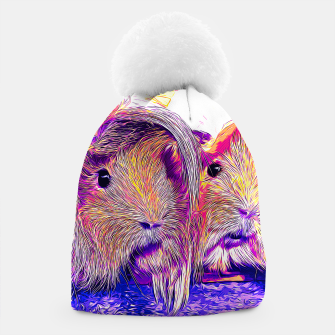 Miniaturka gxp guinea pig couple vector art purple Beanie, Live Heroes