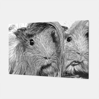 Imagen en miniatura de gxp guinea pig couple vector art black white Canvas, Live Heroes