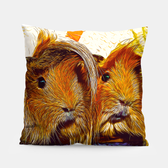 Miniaturka gxp guinea pig couple vector art Pillow, Live Heroes