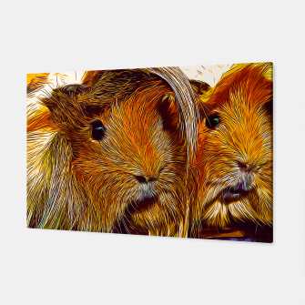 Miniaturka gxp guinea pig couple vector art Canvas, Live Heroes