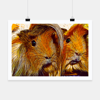 Thumbnail image of gxp guinea pig couple vector art Poster, Live Heroes