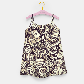 Tea Doodle Girl's dress obraz miniatury
