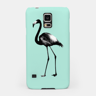 Imagen en miniatura de Black Flamingo on Mint #1 #tropical #decor #art Handyhülle für Samsung, Live Heroes