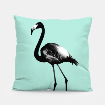 Miniaturka Black Flamingo on Mint #1 #tropical #decor #art Kissen, Live Heroes
