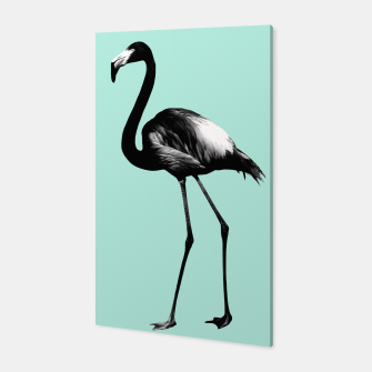 Imagen en miniatura de Black Flamingo on Mint #1 #tropical #decor #art Canvas, Live Heroes