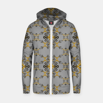 Thumbnail image of Shears in yellow game Cotton zip up hoodie, Live Heroes