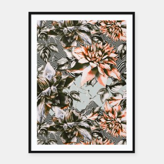 Thumbnail image of Print mix floral  Cartel con marco, Live Heroes