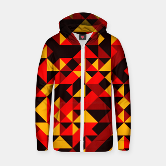 Thumbnail image of Polygon Art - 05 Cotton zip up hoodie, Live Heroes