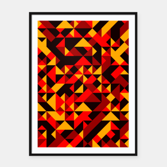 Thumbnail image of Polygon Art - 05 Framed poster, Live Heroes