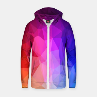 Miniatur Polygon Art - 02 Cotton zip up hoodie, Live Heroes