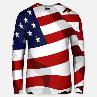 American Flag On Red Cotton sweater obraz miniatury